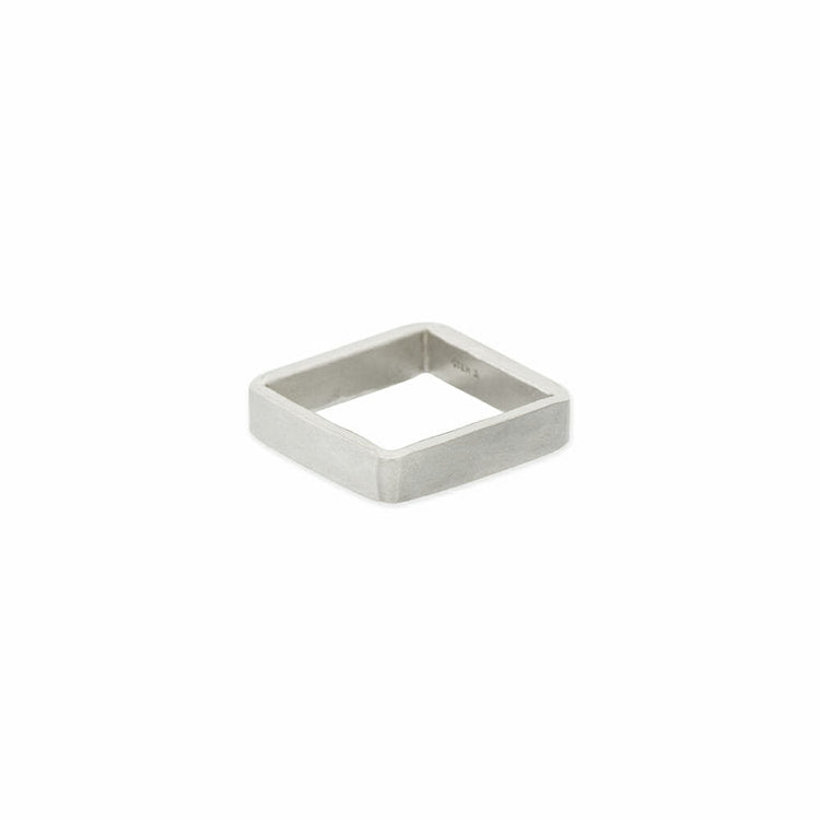 Rings Handcrafted 4mm Square Sterling Silver Rings - Ilumine Gallery Store dainty jewelry affordable fine jewelry