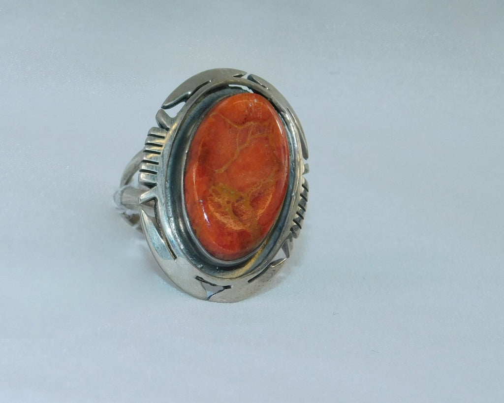 Sterling silver and spiny oyster ring - Ilumine' Gallery