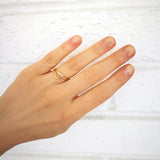 Sterling silver chevron stacking ring - Ilumine Gallery Store dainty jewelry affordable fine jewelry