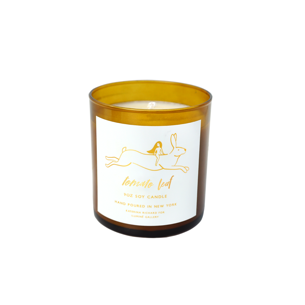 tomato leaf soy candle - Ilumine Gallery Store dainty jewelry affordable fine jewelry