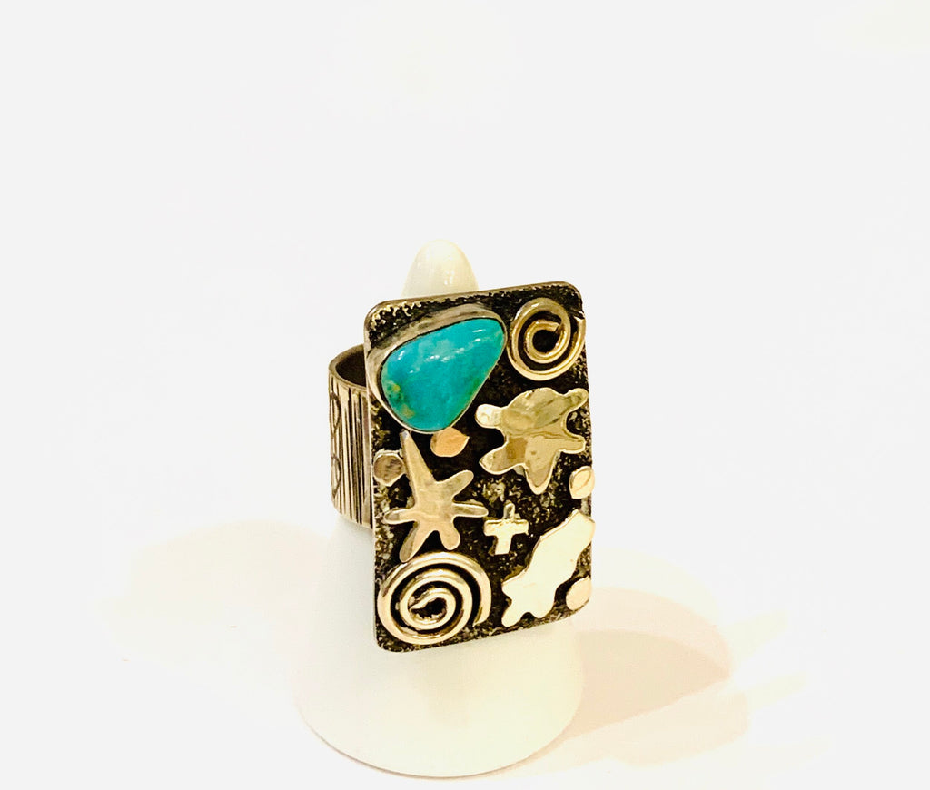 Handcrafted SS925 Ring By Native American Artist And Designer Alex Sanchez - Ilumine Gallery Store dainty jewelry affordable fine jewelry
