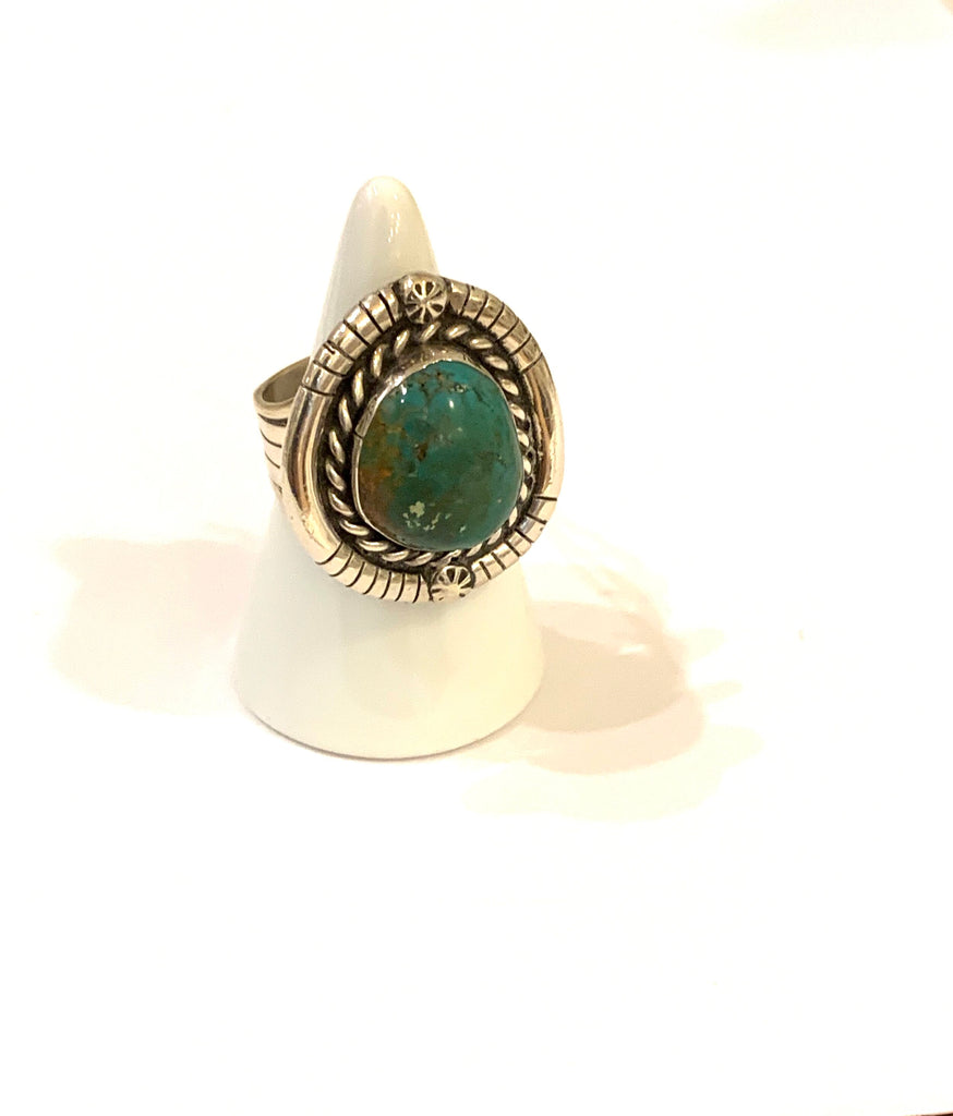 Sterling Silver turquoise ring - Ilumine Gallery Store dainty jewelry affordable fine jewelry