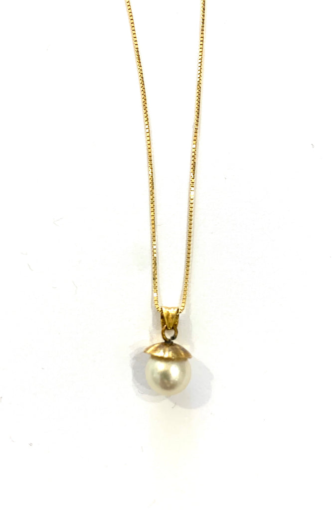 Gold necklace with south sea pearl - Ilumine Gallery Store dainty jewelry affordable fine jewelry