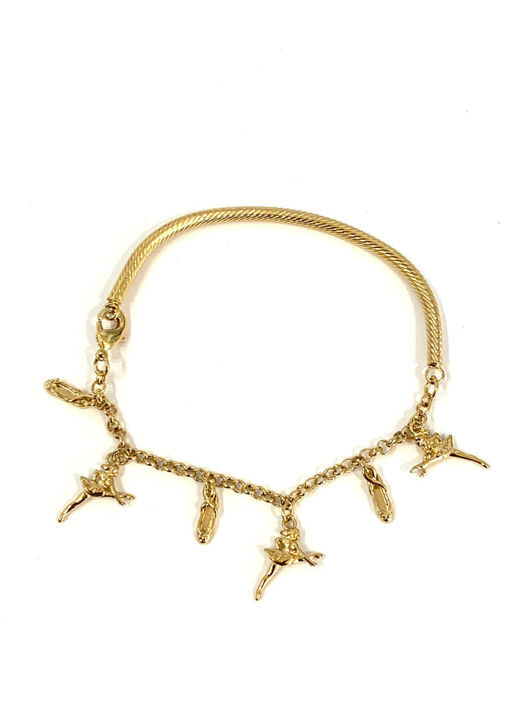 Gold ballet charms bracelet - Ilumine Gallery Store dainty jewelry affordable fine jewelry