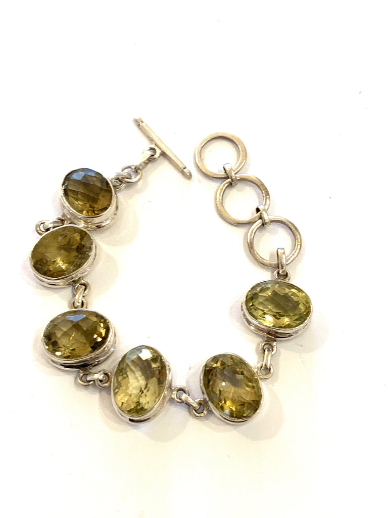 Sterling silver lemon quartz bracelet - Ilumine' Gallery