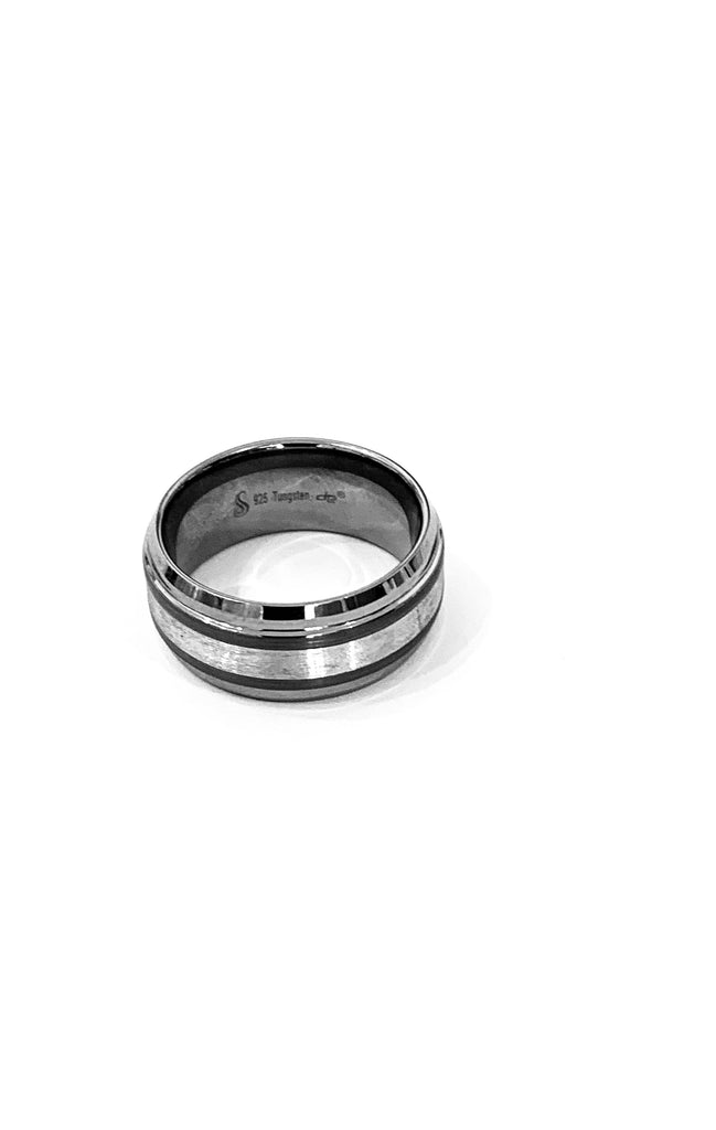 Tungsten ridged band ring - Ilumine Gallery Store dainty jewelry affordable fine jewelry