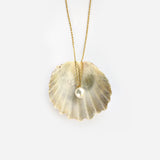 Gold or sterling silver pearl drop necklace - Ilumine Gallery Store dainty jewelry affordable fine jewelry