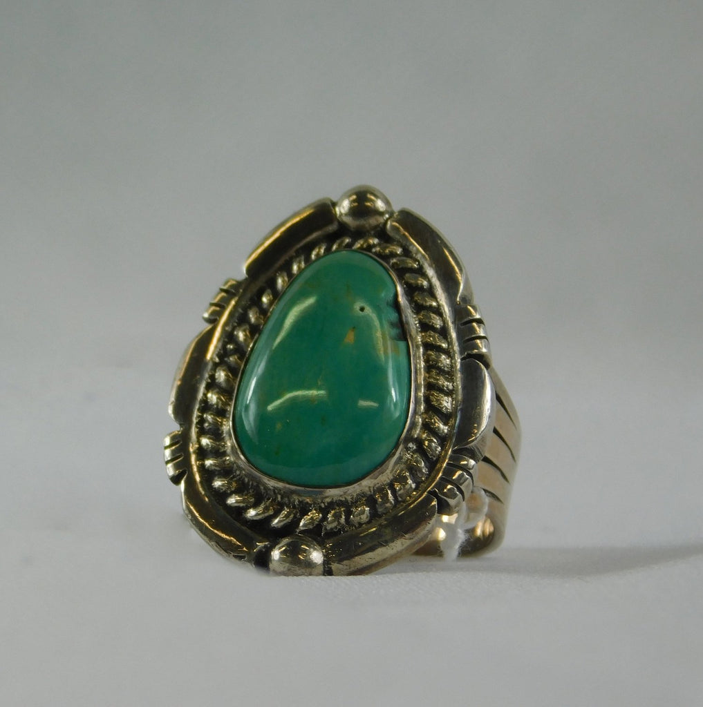 Native American SS 925 and Turquoise Ring - Ilumine Gallery Store dainty jewelry affordable fine jewelry