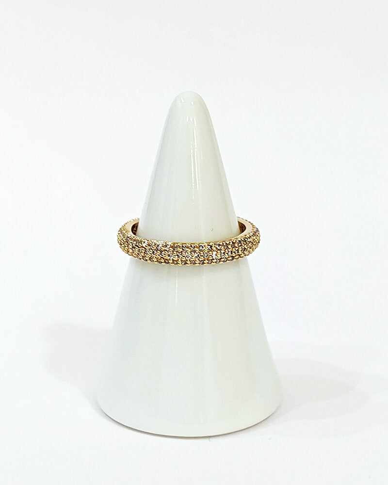 Yellow gold eternity crystal band - Ilumine Gallery Store dainty jewelry affordable fine jewelry