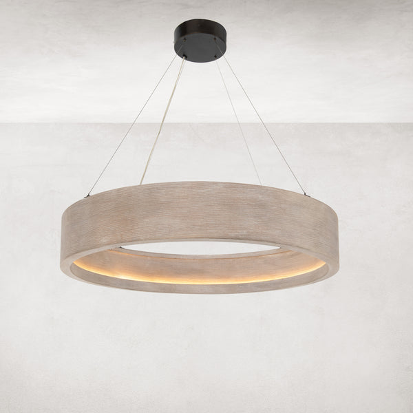 BAUM CHANDELIER - BRUSHED OAK