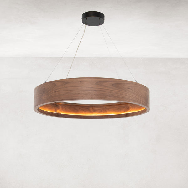 BAUM CHANDELIER - DARK WALNUT