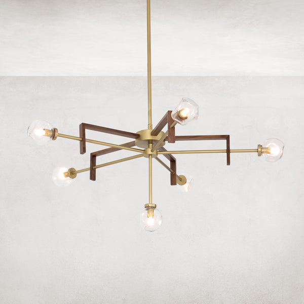 STERLING CHANDELIER-ORGANIC TEXTURED GLS