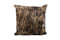 Exotic Dark Brown and Black Cowhide Cushion