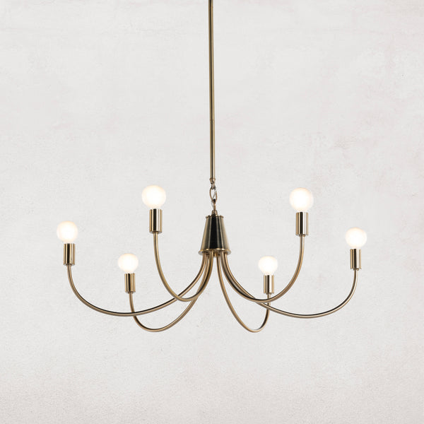 HALEY CHANDELIER-SATIN BRASS