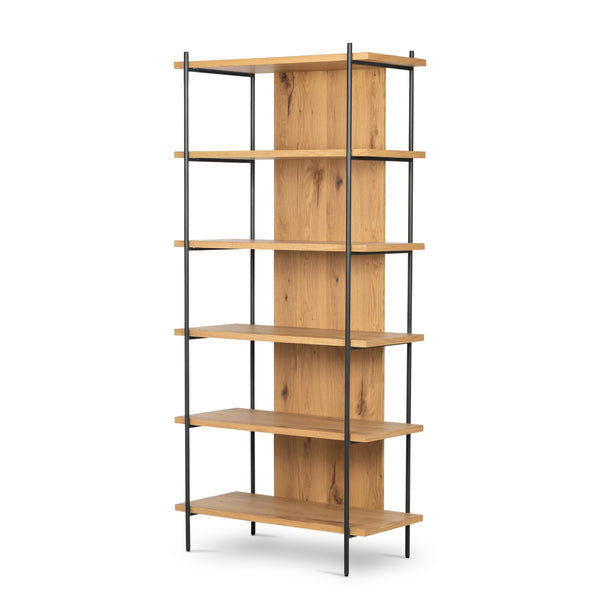 EATON BOOKSHELF-LIGHT OAK RESIN