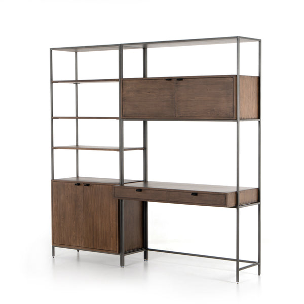 TREY MODULAR WALL DESK W/ 1 BOOKCASE