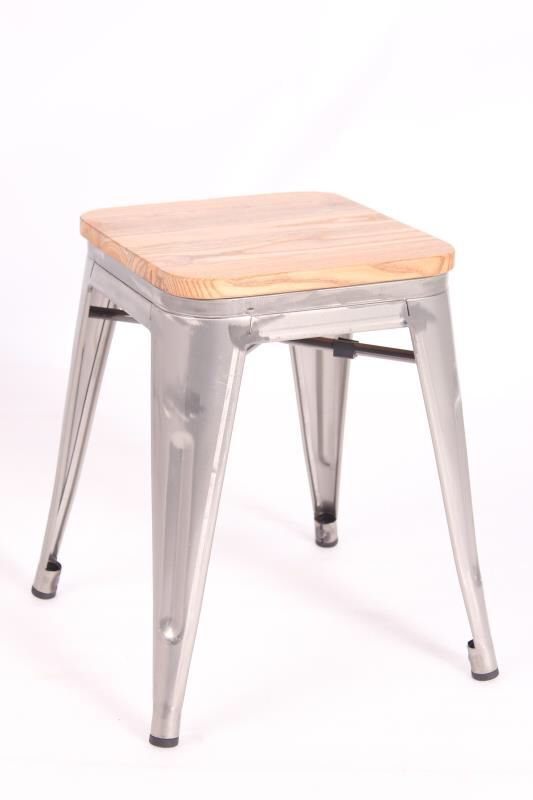 Mini Tolix (Natural Wood Seat)