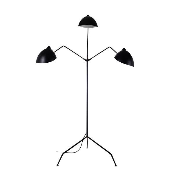 Serge Mouille Three-Arm Floor Lamp (Reproduction)