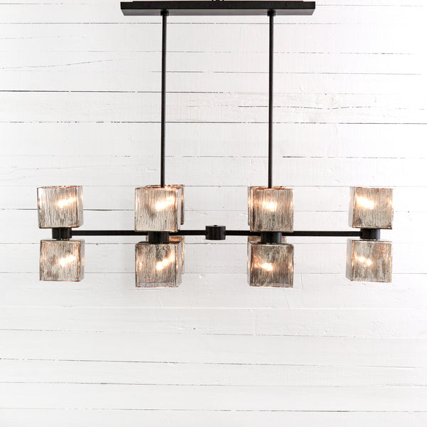 AVA LINEAR CHANDELIER-ANTIQUED IRON