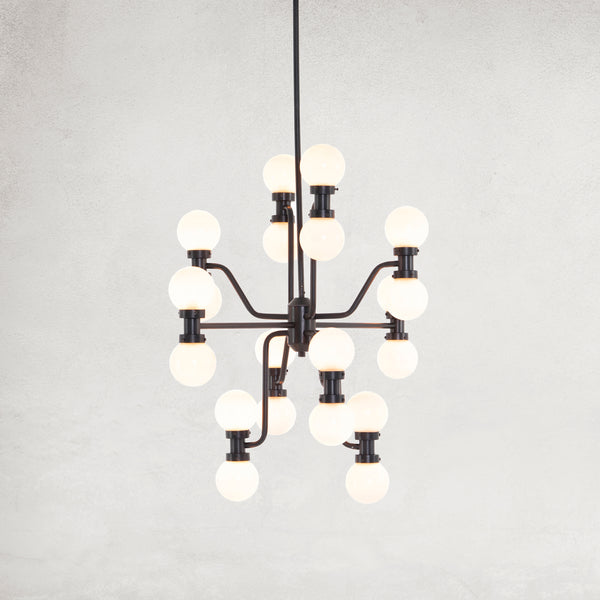 RYLAN CHANDELIER-ANTIQUE IRON