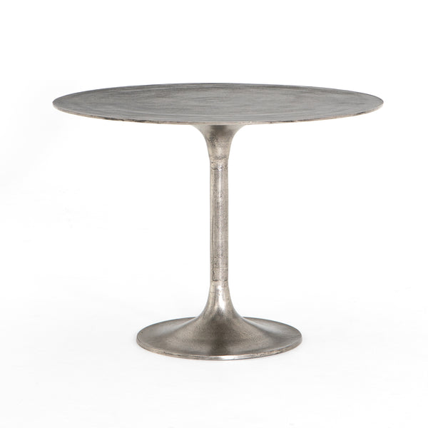 SIMONE BISTRO TABLE - RAW ANTIQUE NICKEL