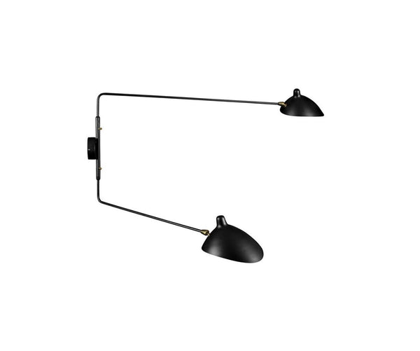 Serge Mouille Two-Arm Lamp (Reproduction)