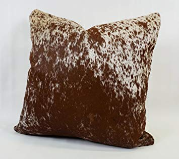 Salt and Pepper Brown Cowhide Cushion