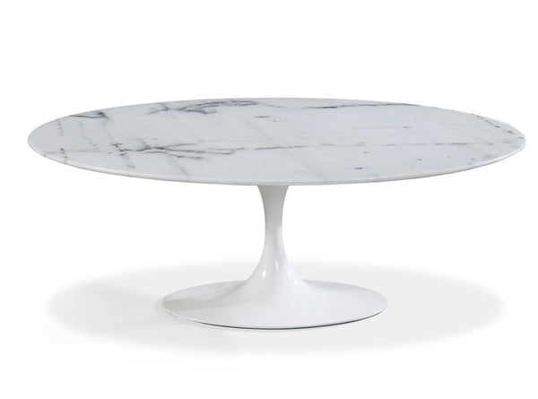 Oval Marble White Dining Table