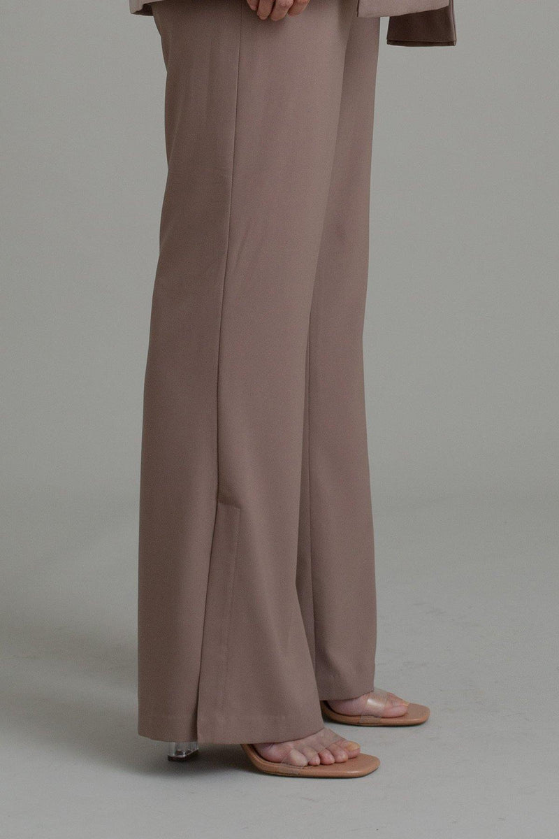 ASH SLIT FLARED PANTS