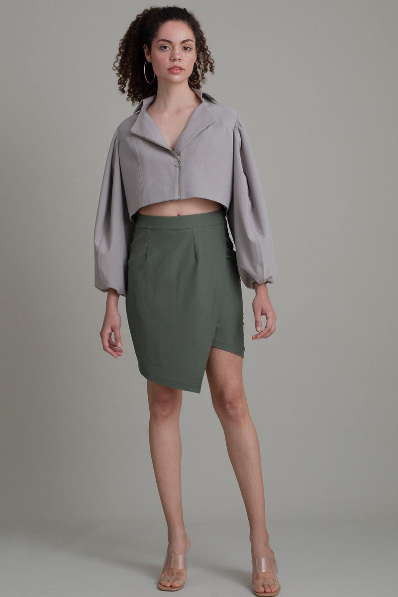 CROP SAGE SLEEVE JACKET