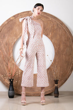 Printed Tie Up Jumpsuit