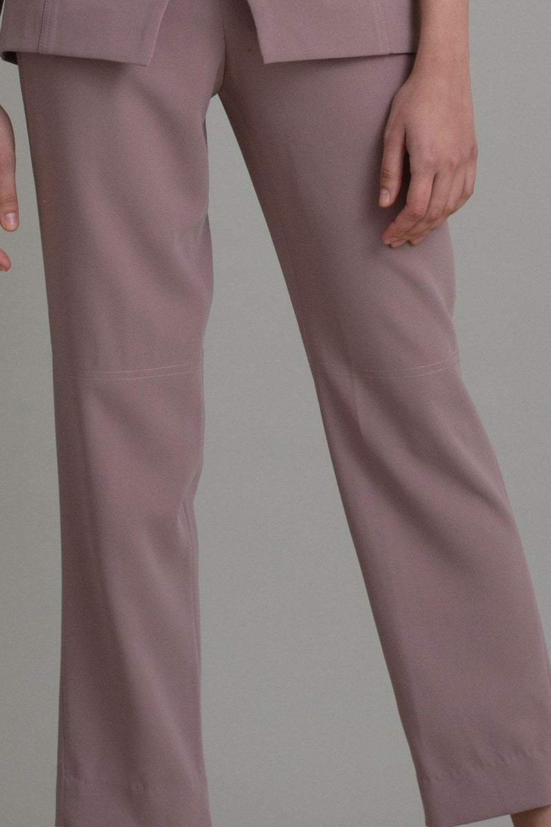 TAUPE BARREL LEG PANTS