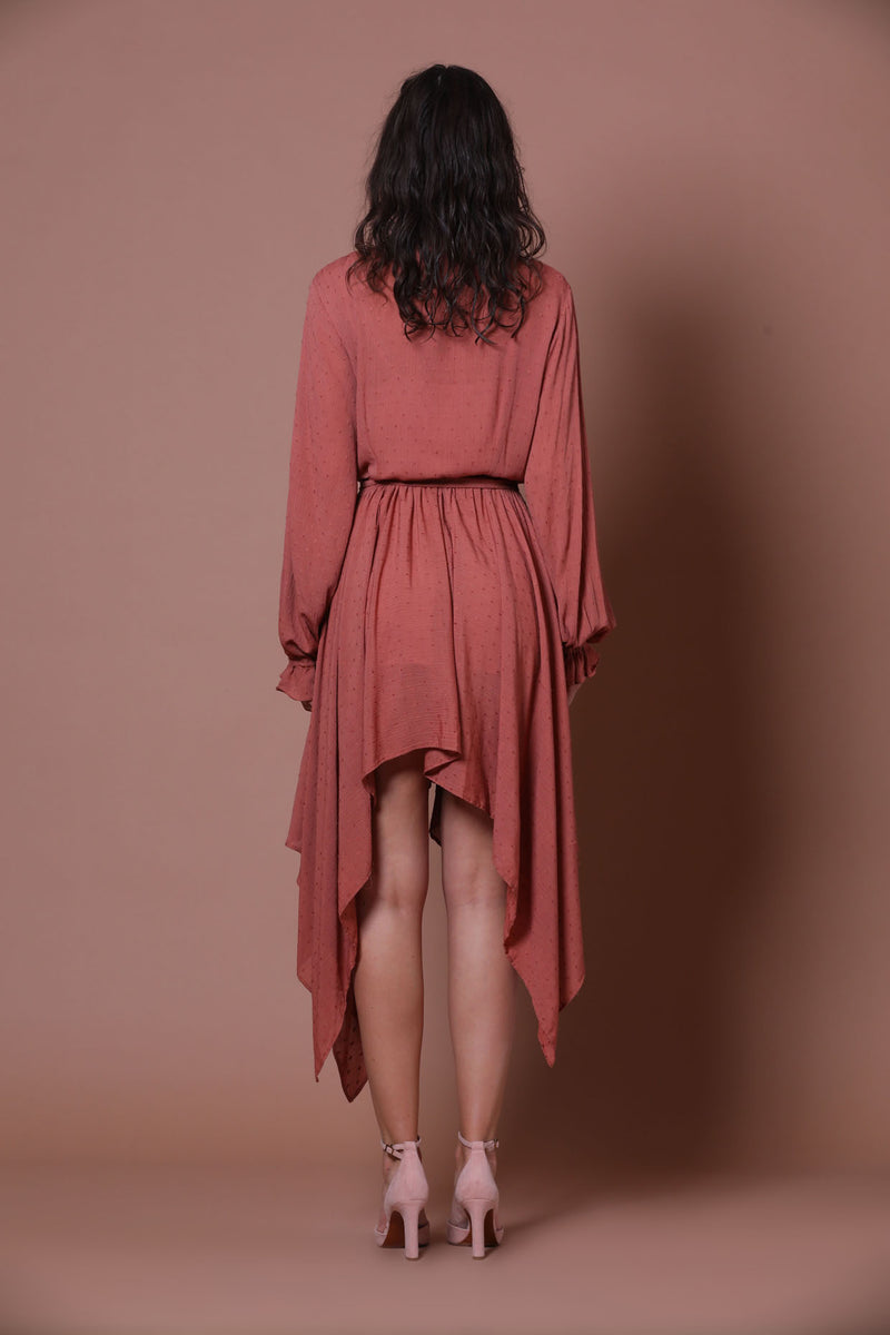 Rosè Asymmetrical Dress