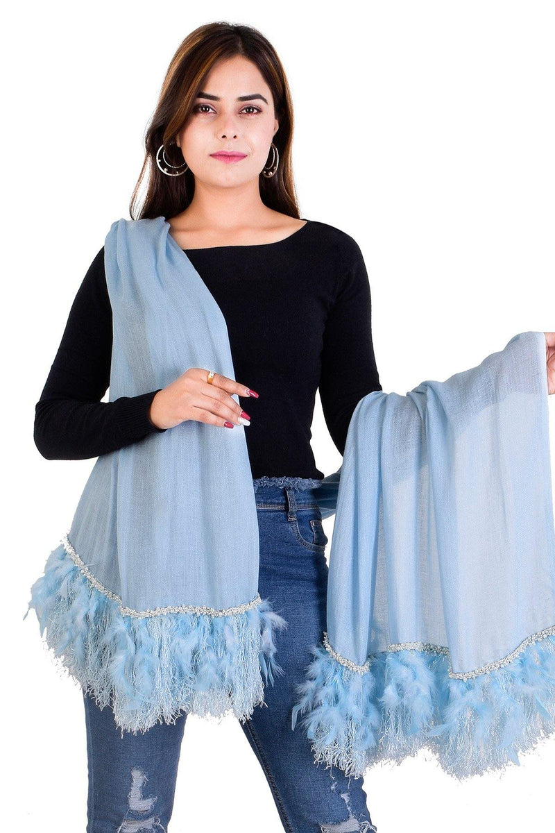 Freesia Ice Blue Stole