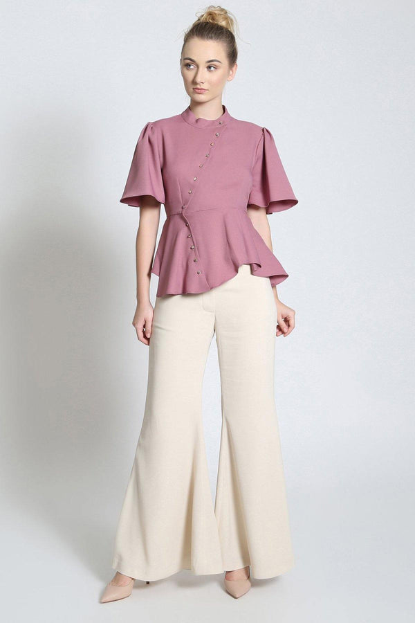 Diagonal Peplum Shirt