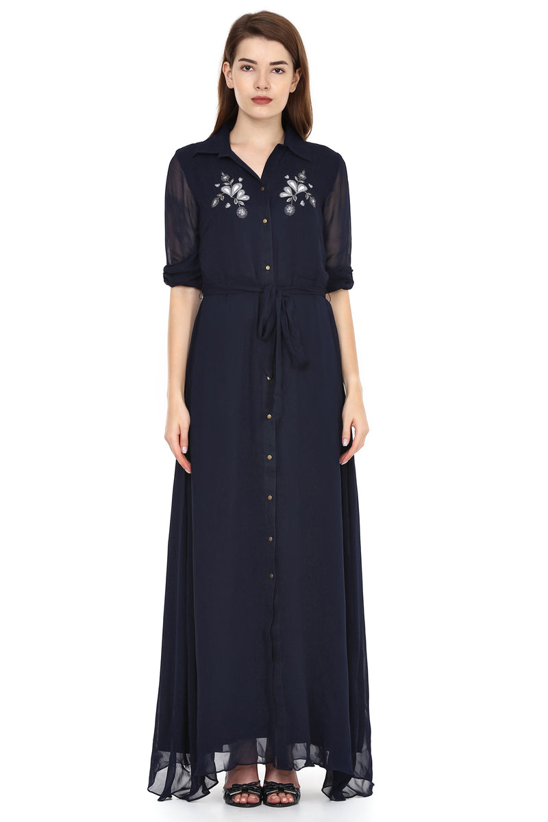 Midnight Shirt Dress