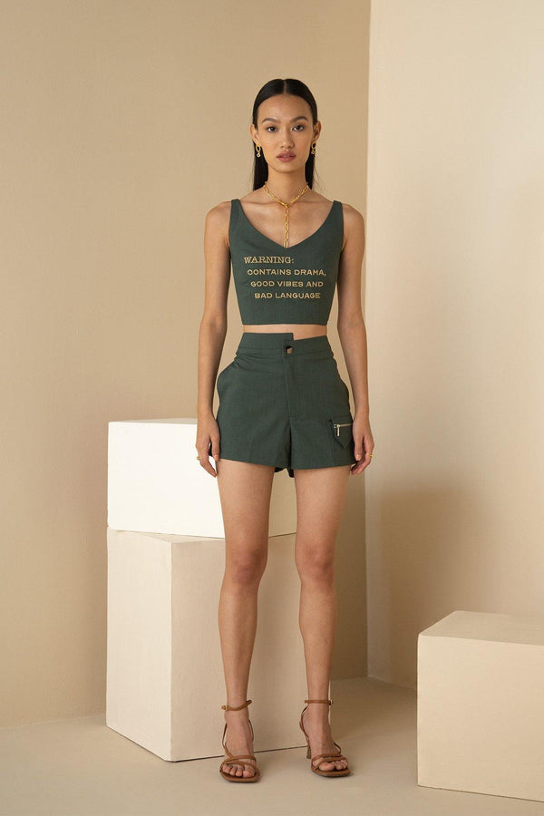 SAGE ASYMMETRIC SHORTS