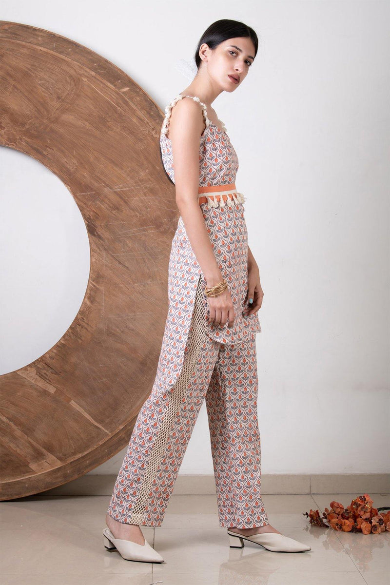 Long Co-ord with Tassel Belt