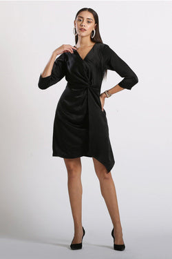 Overlap Twist Dress