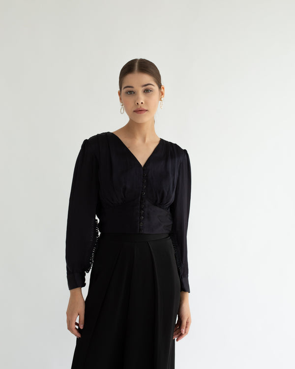 Rosa Blouse Black