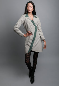 SAGE ASYMMETRIC DRESS