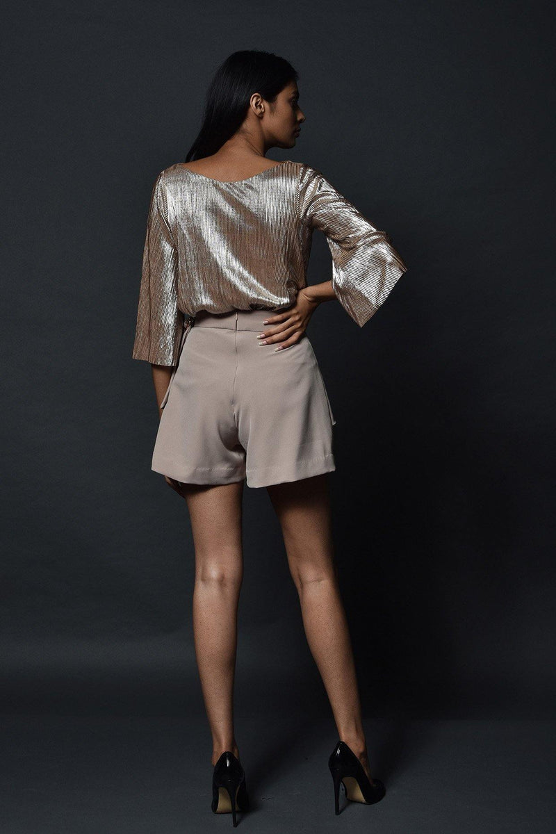 Bias Panel Drape Shorts