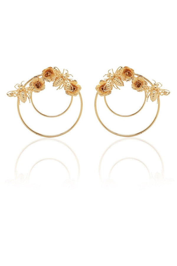 Clochette Bees Hoops Earrings