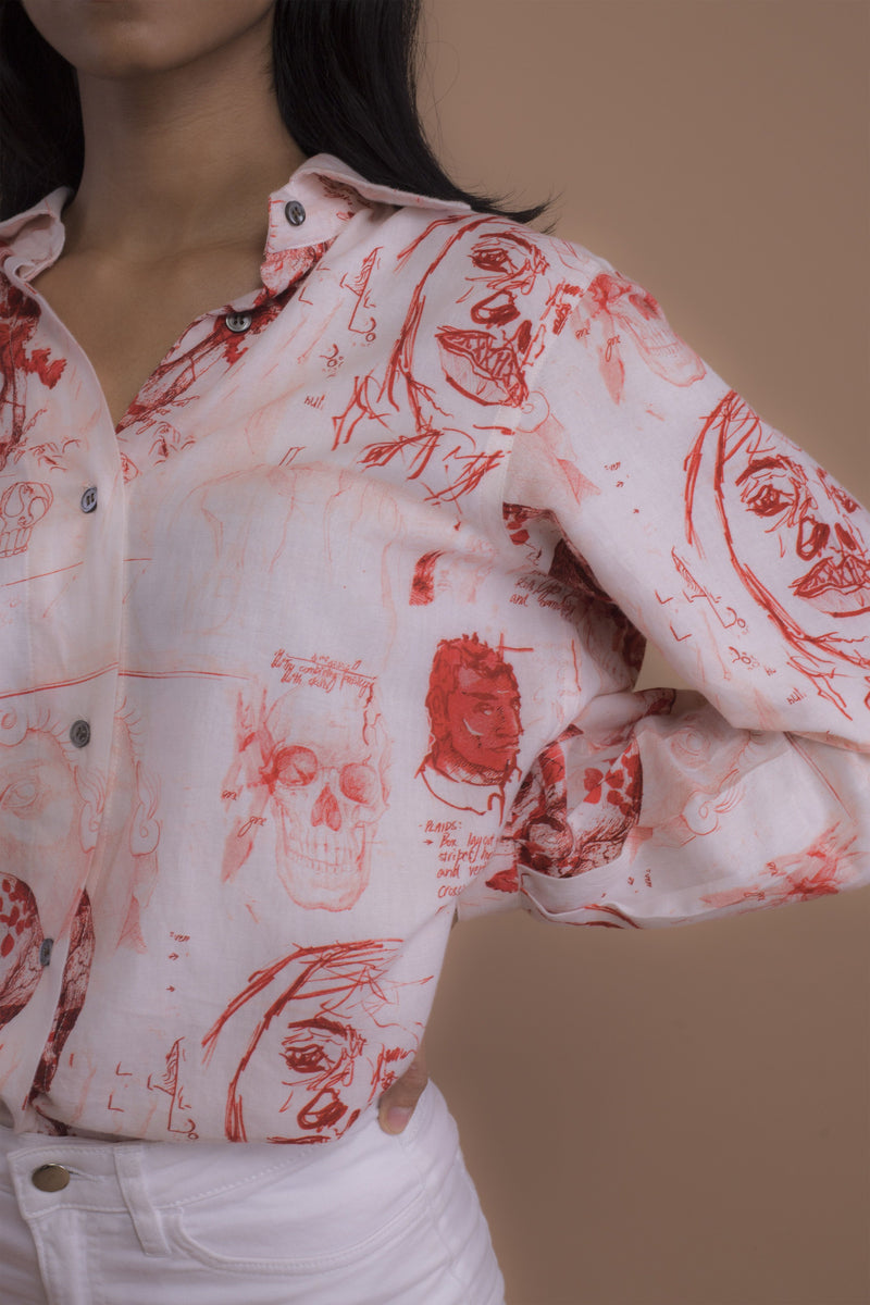 Sketchbook Shirt (Red)