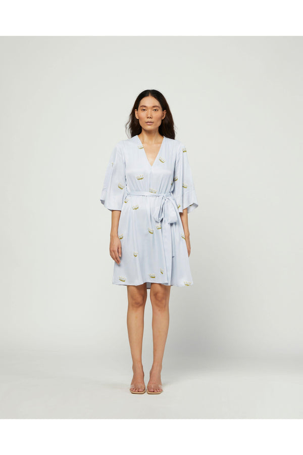 Mist Embroidered Dress