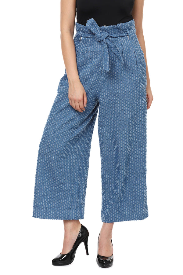 Denim Textured Pants
