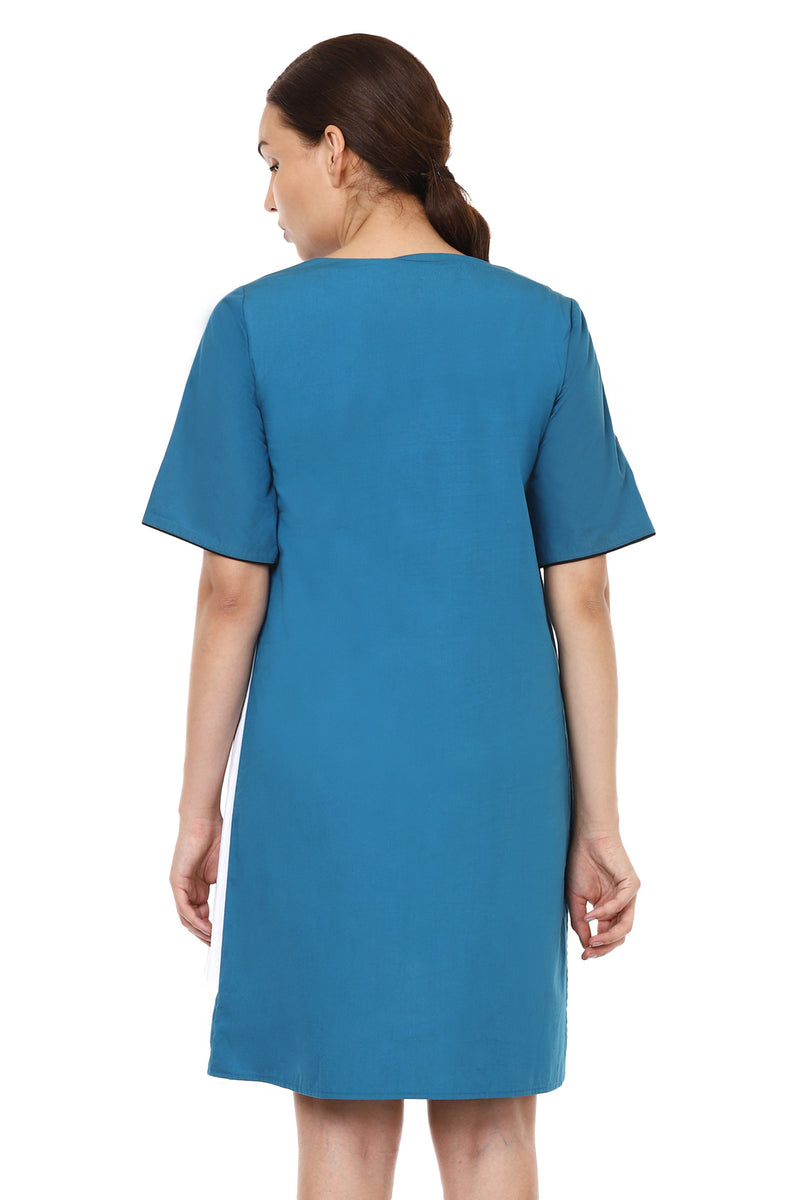 Blue Asymmetrical Dress