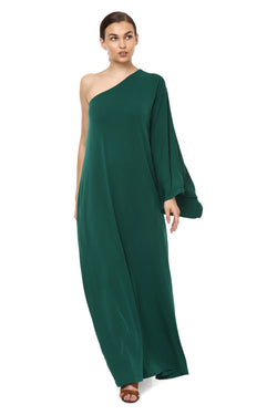 One Shoulder Green Dress