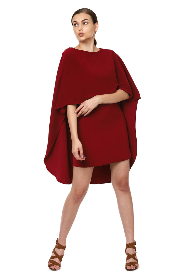 Red Cape Dress