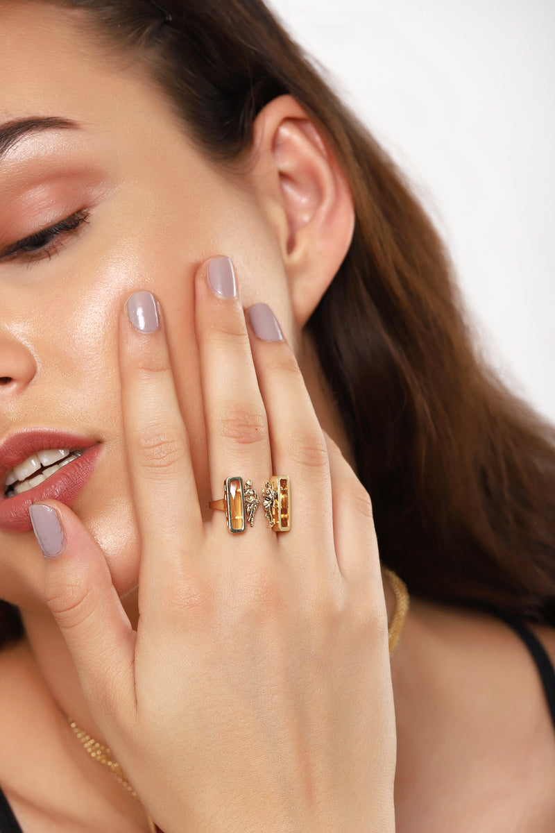 Citrine Open Ring